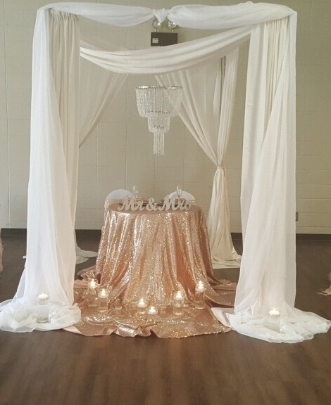 Rose Gold Sequin Table Cloth