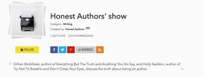 Hitting the wall - and the Honest Authors Podcast...