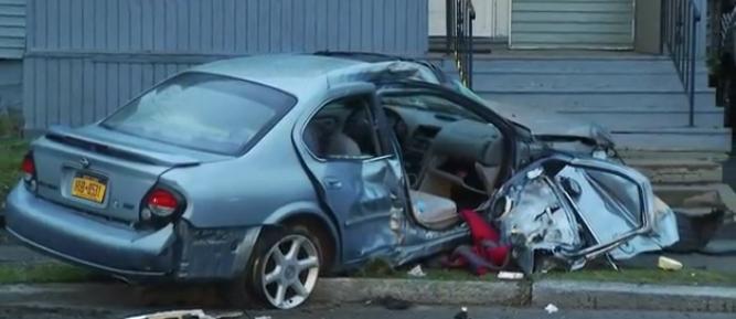Three hospitalized after Schenectady crash