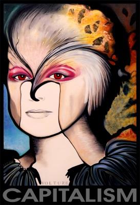 Vulture Capitalism painting by Maya Britan