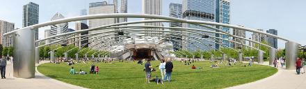 Pritzker Pavilion in Millennium Park Chicago