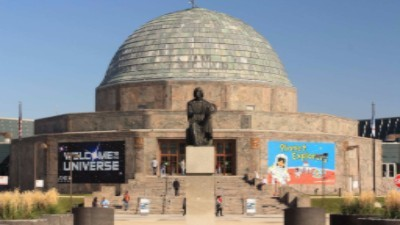 The Adler Planetarium is a public museum dedicated to the study of astronomy and astrophysics