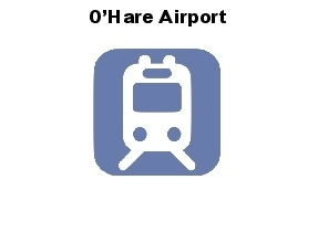 Chicago Guest House Vacation Rental: Blue Line Train to O'Hare Airport