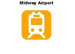 Chicago Guest House Vacation Rental: Orange Line Train to Midway Airport