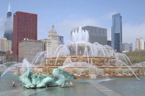 The centerpiece of Grant Park. Come see the light show after dark!