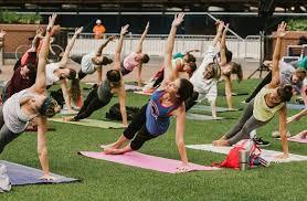 Yoga at Wrigley Park