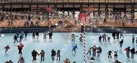 Ice Skating at Wrigley Field