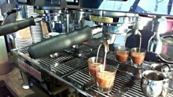 southside coffee brew bar pouring espresso