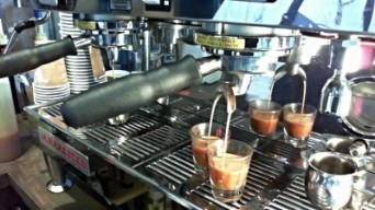 southside coffee brew bar pouring espresso