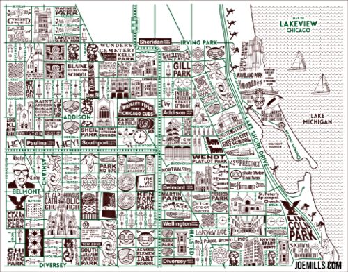 Lakview Chicago Map from Chicago Guest House