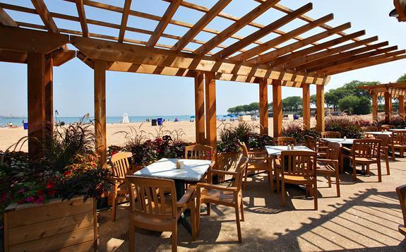 Oak Street Beachstro on Oak Street Beach in Chicago