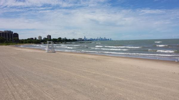 south shore beach in Chicago