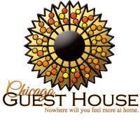Chicago Guest House  Logo Vacation Rentals in Chicago's Wrigleyville Neighborhood Call Teri (312) 952-5150 to Reserve
