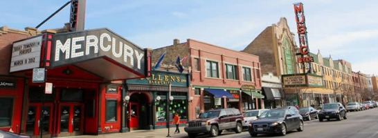 Mercury & Music box theater in chicago