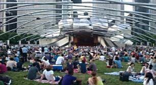 Pritzker Pavillion in Millennium Park Chicago