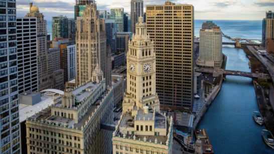 The Wrigley Building in Chicago