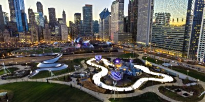 maggie daley park in chicago ice skating ring