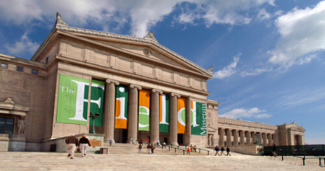 Exterior of the Field Museum in Chicago