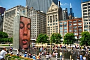 Crowne Fountain at Millennium Park Chicago