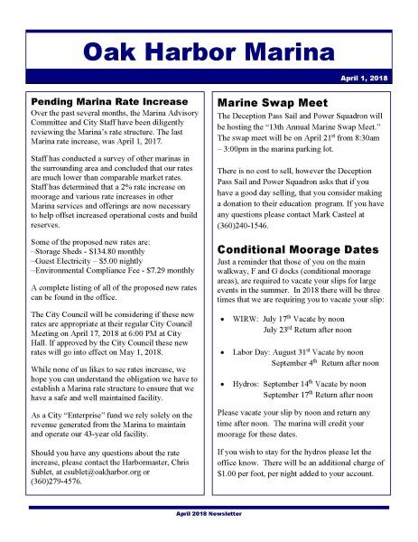 Click to open the Oak Harbor Marina April Newsletter.