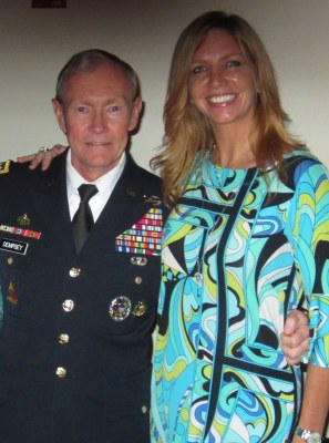US General Martin Dempsey, Victoria Schweizer
