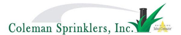 Coleman Sprinklers logo