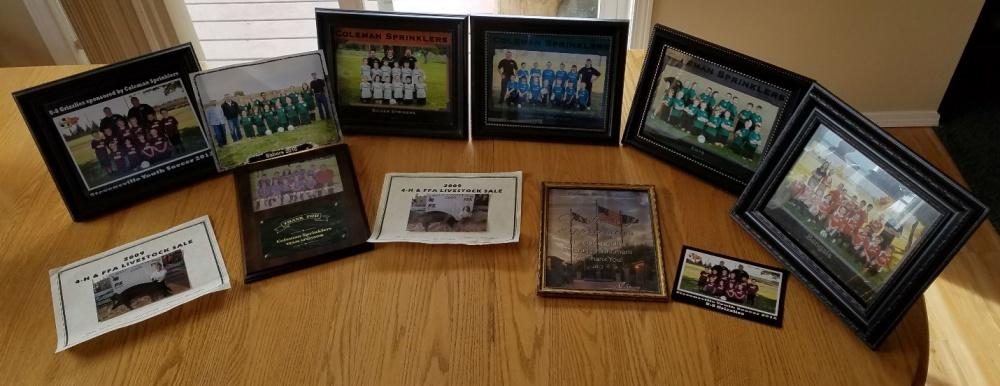 Photos of teams sponsored by Coleman Sprinklers