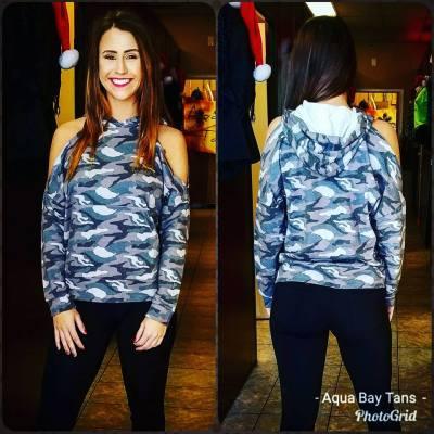 Camo hoodie $29.95