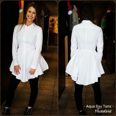 White long sleeve top $29.95