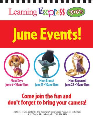 June 11th Branch Character Meet & Greets at Learning Express