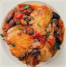 Braised Chicken with Tomatoes & Olives.