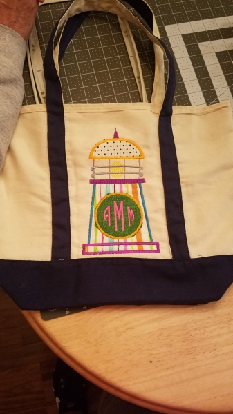 Monogram Applique Tote