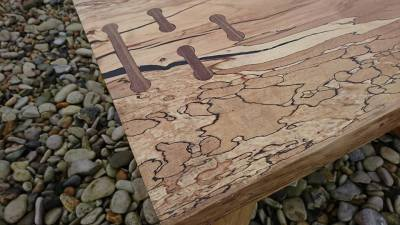 Spalted birch coffee table