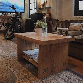 spalted coffee table in store