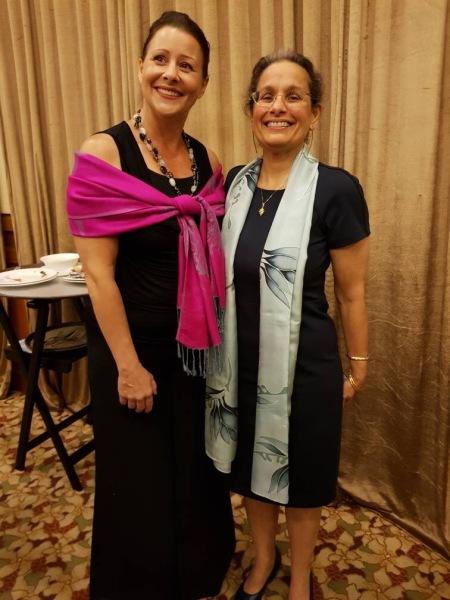 Ms Valerie Lynn and US Ambassador Kamala Lakhdhir