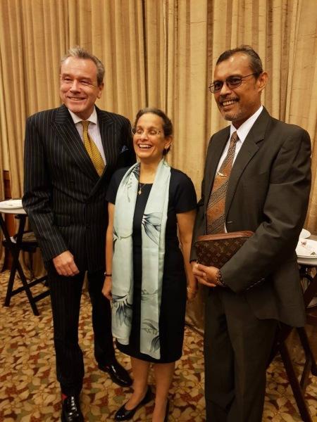 Dato' Nick Pinder, US Ambassador Kamala Lakhdhir and Mr Roslan Wilkinson