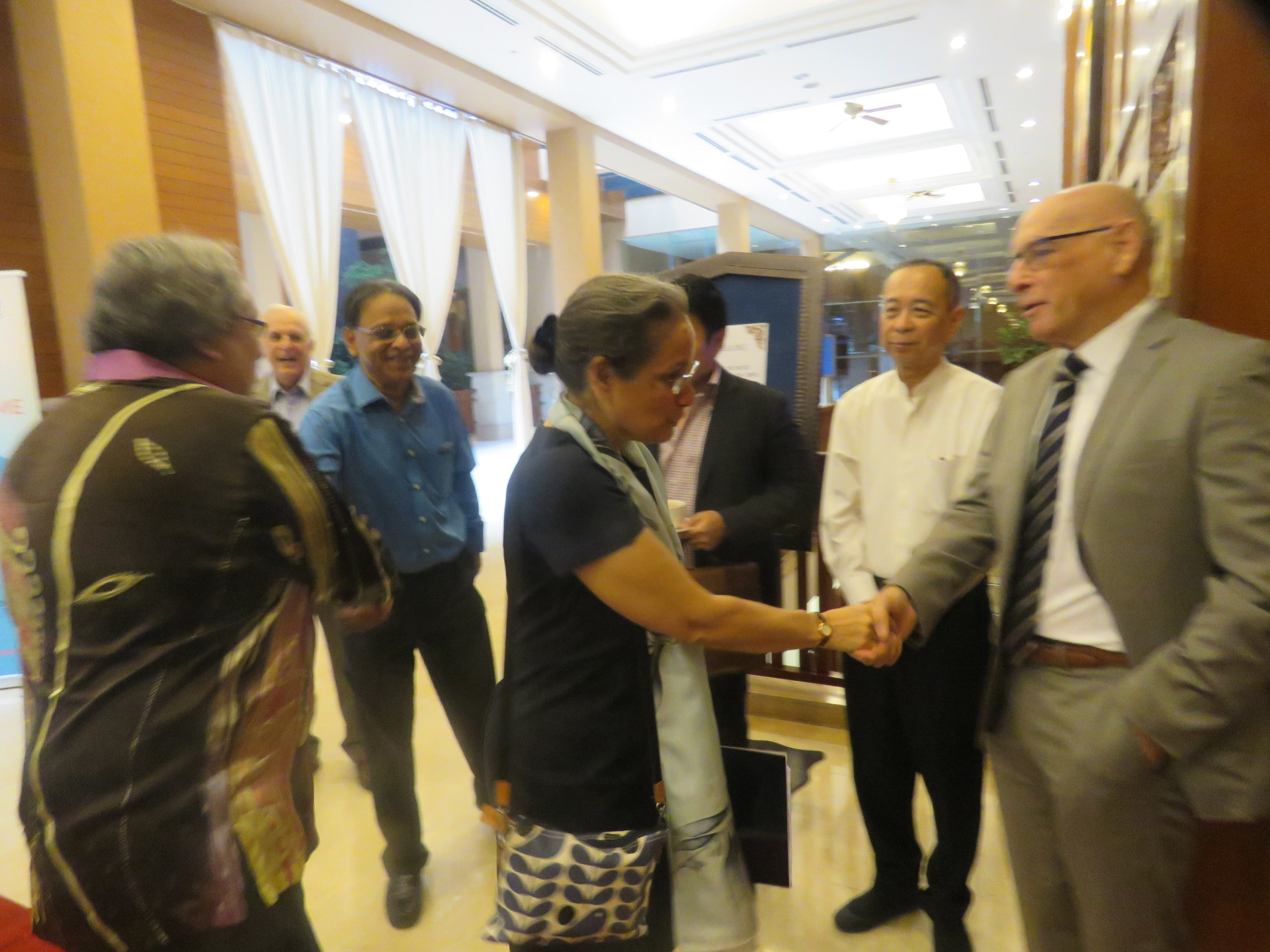 Guests greeting our speaker, US Ambassador Kamala Lakhdhir, at our July 2017 MRP luncheon held at the Royale Chulan Kuala Lumpur