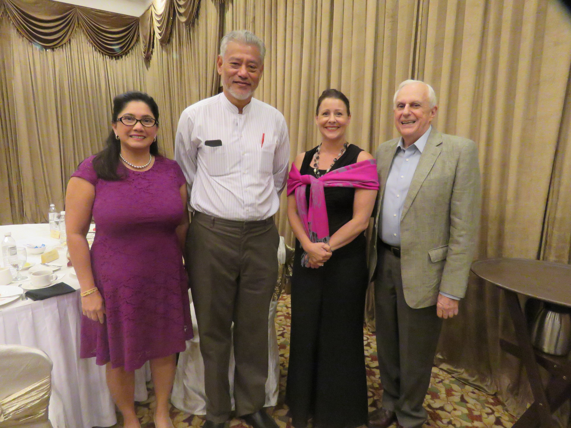 Mrs Siobhan Das, Dr Jomo Sundaram, Ms Valerie Lynn and Datuk Nicholas Zefferys