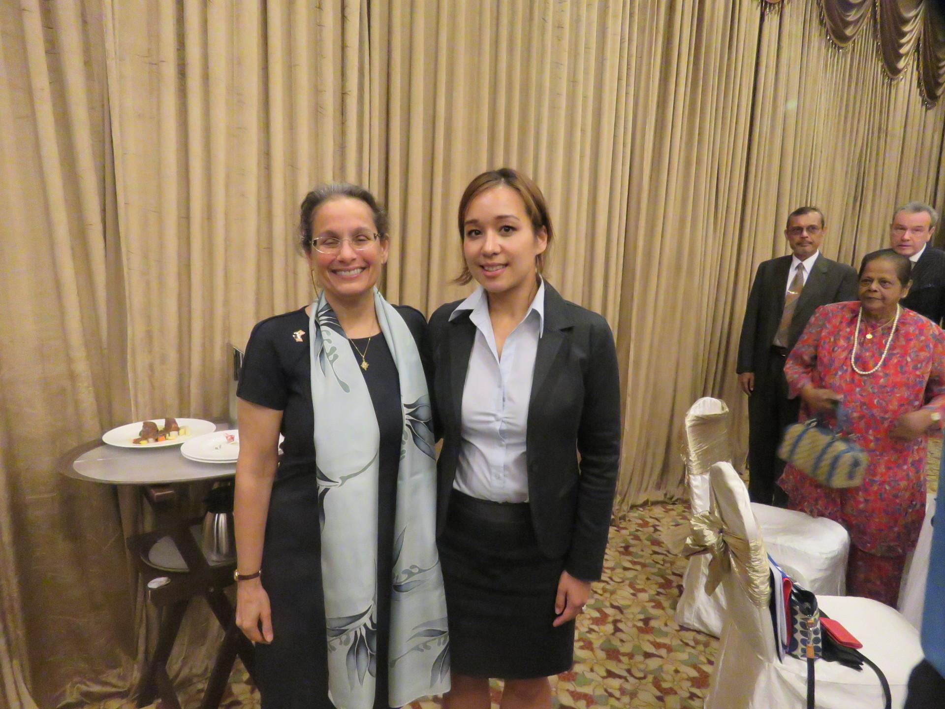 US Ambassador Kamala Lakhdhir with Mrs Maria Townsend
