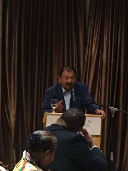 Guest speaker Tunku Imran at our November 2017 MRP luncheon held at the Pullman Hotel KLCC