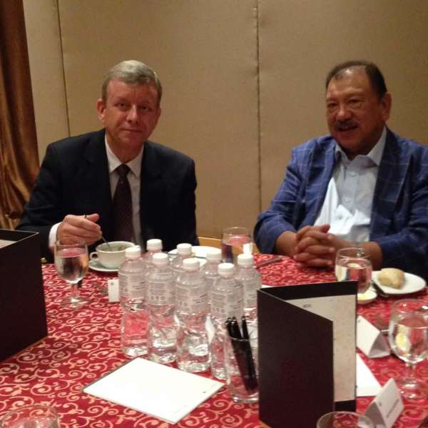 Mr David Jones with Tunku Imran at our November 2017 MRP luncheon held at the Pullman Hotel KLCC