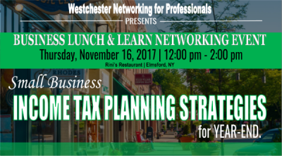 tax planning, lunch and learn events, networking events, year end planning