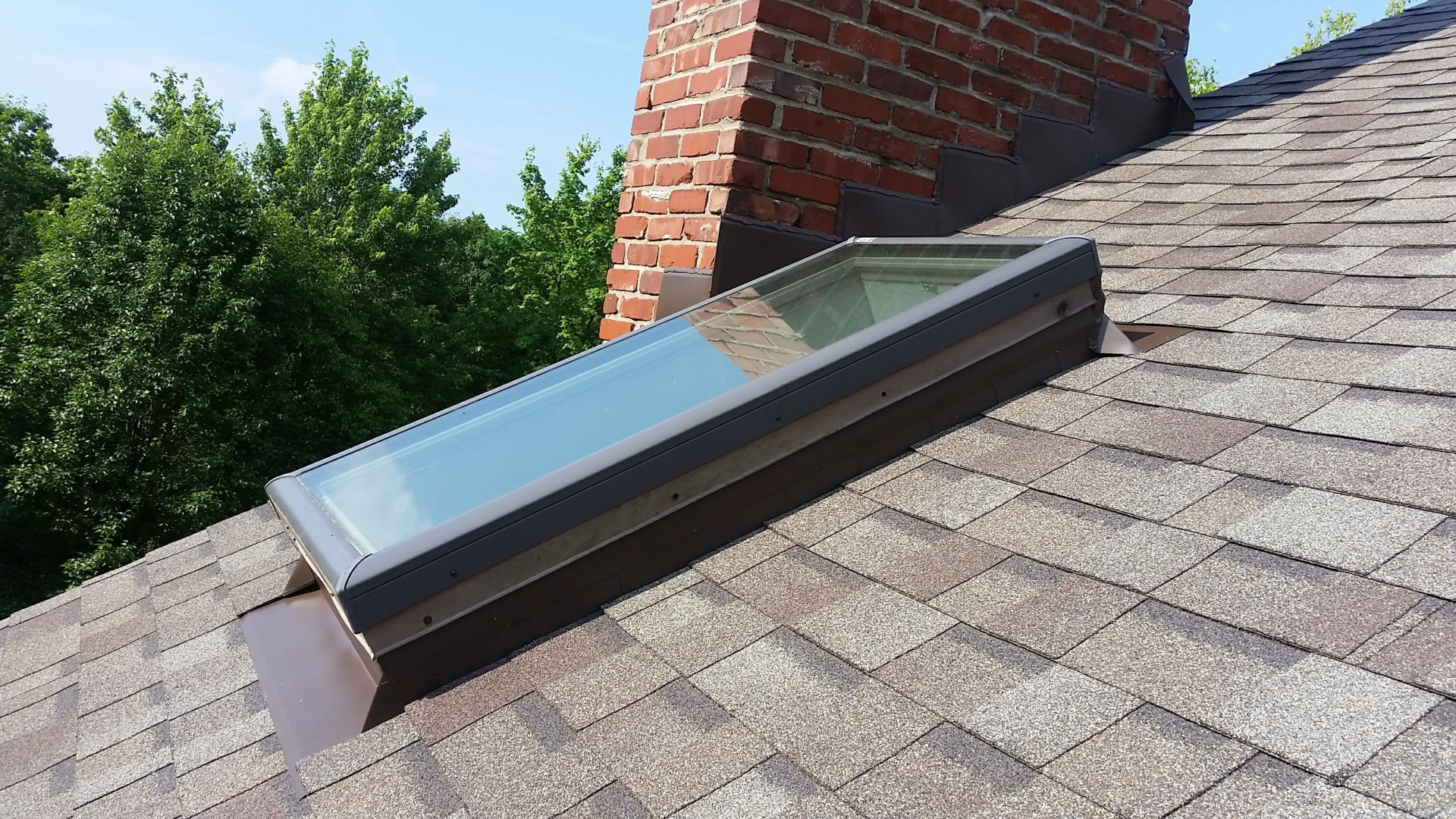 Reflashed Velux Curb Mount Skylight