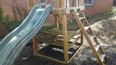 Playset Algae Covered