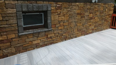 Stone Wall Finished Clean