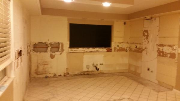 Kitchen remodel during