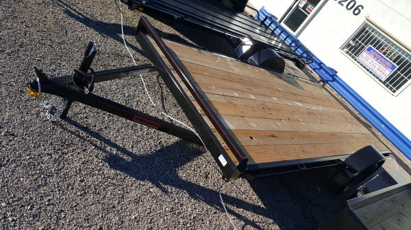 Utility Trailer with Ramps and Rubrail