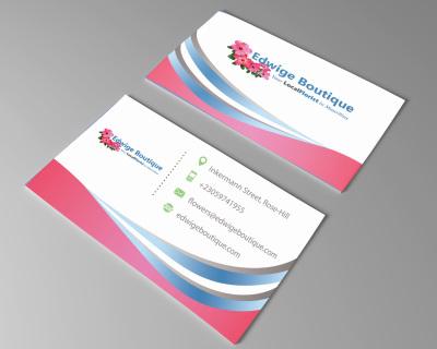 Edwige Boutique Florist Business Card