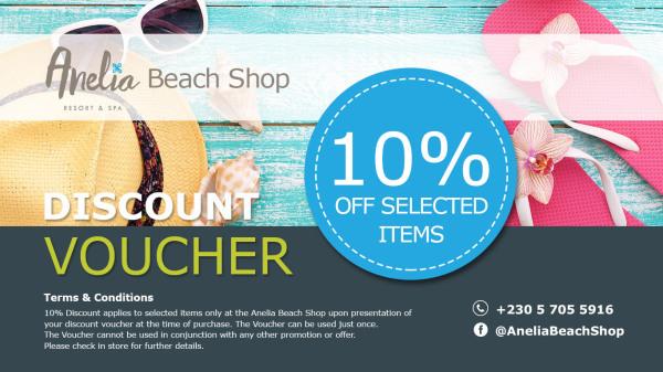 Anelia Beach Shop Discount Voucher