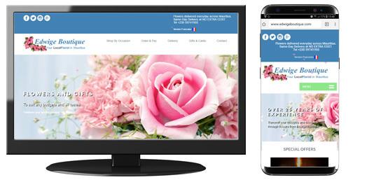 Edwige Boutique Florist Website